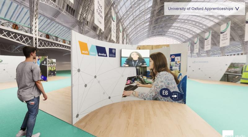 Find Your Future, University of Oxford pod on virtual platform